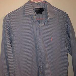 Striped blue Polo Ralph Lauren button down